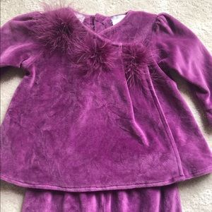 Koala baby purple feather outfit